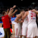 Polscy koszykarze podczas meczu Polska - Chorwacja