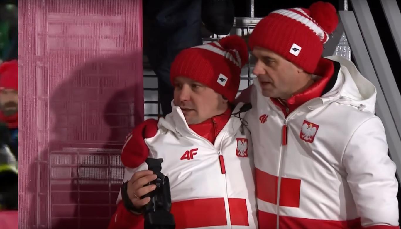 Grzegorz Sobczyk i Stefan Horngacher