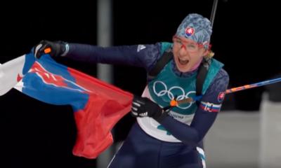 Anastasia Kuzmina podczas Igrzysk