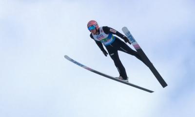 Dawid Kubacki podczas konkurencji mikst