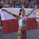 Ewa Swoboda z flagą