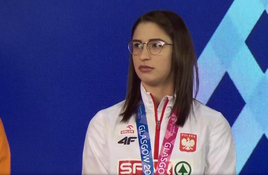 Ewa Swoboda z medalem