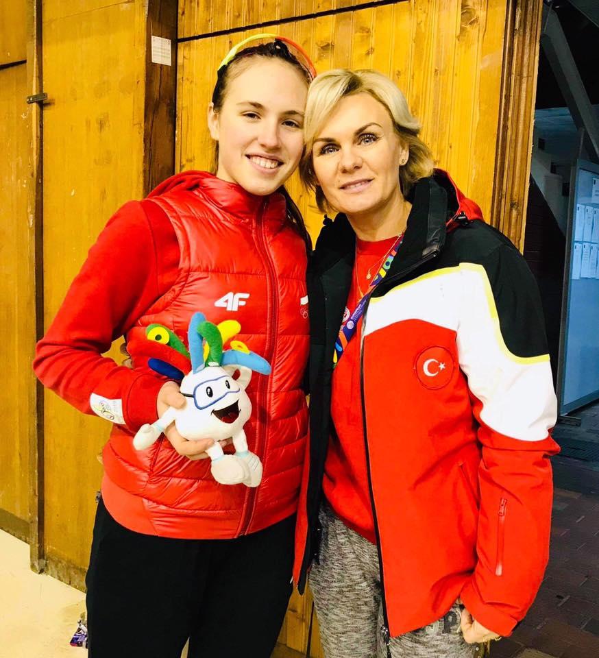 Magdalena Zych i jej trener