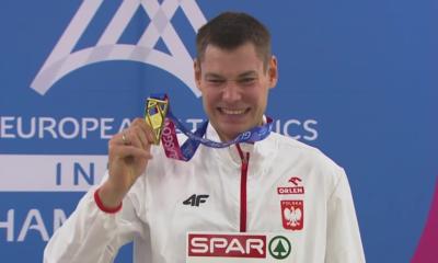Halowe mistrzostwa Europy - Paweł Wojciechowski z medalem