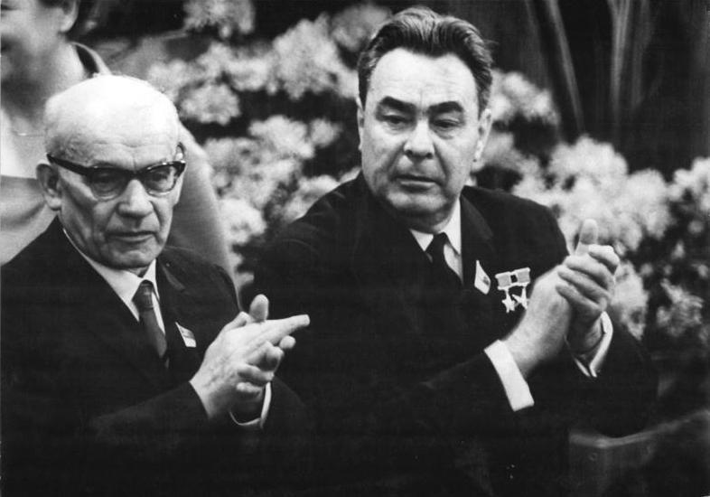 Władysław Gomułka i Lenonid Breżniew