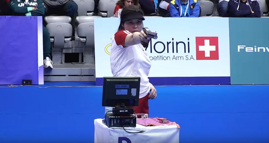 Klaudia Breś podczas mistrzostw Europy