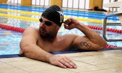 Sławomir Kuczko w basenie