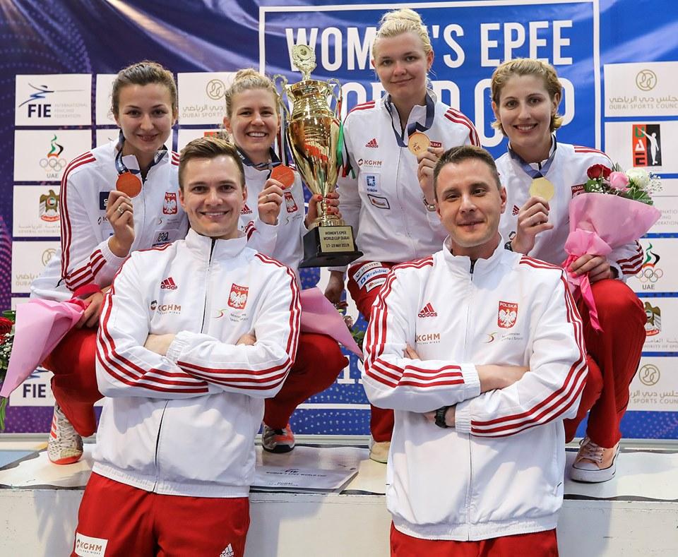 polskie szpadzistki na podium