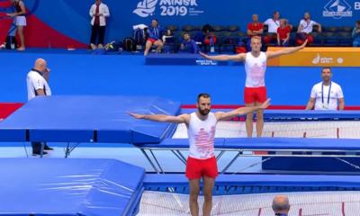 Artur Zakrzewski i Łukasz Jaworski podczas Igrzysk Europejskich