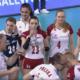 Polskie siatkarki: Martyna Grajber, Natalia Mędrzyk i polskie siatkarki w meczu z Koreą
