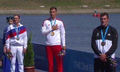 Tomasz Kaczor ze złotym medalem