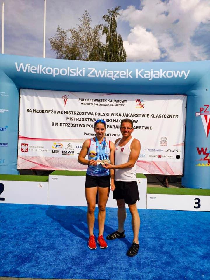 Małgorzata Puławska z trenerem
