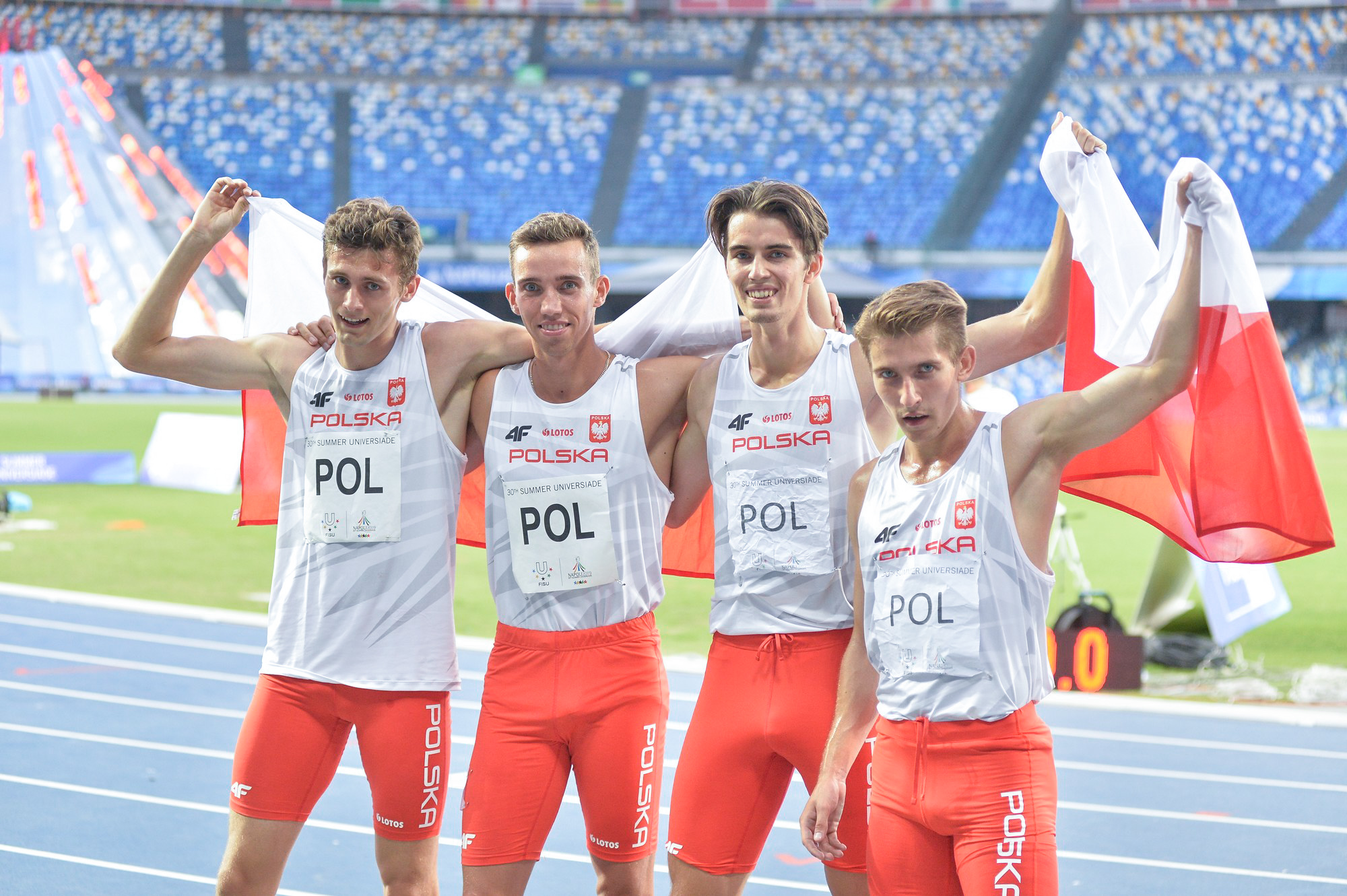 Wiktor Suwara, Patryk Dobek, Kajetan Duszyński i Dariusz Kowaluk