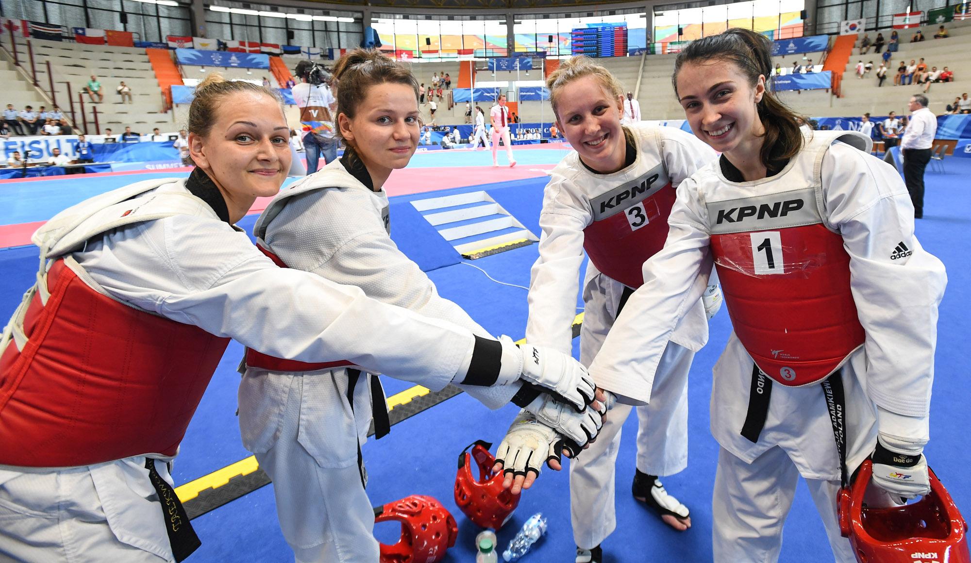 Patrycja Adamkiewicz, Gabriela Dajnowicz, Magdalena Leporowska i Karolina Ziejewska