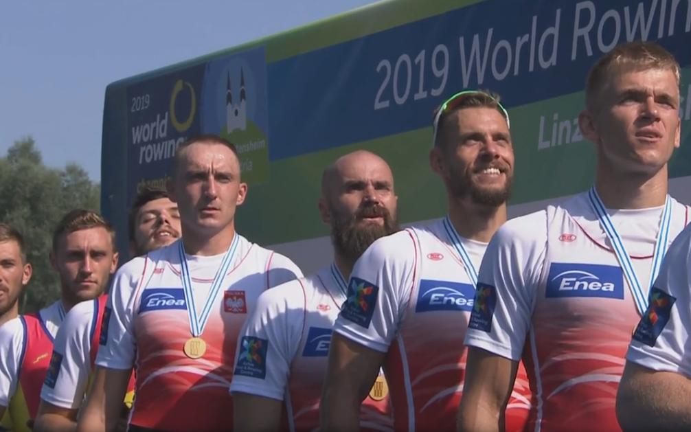 Mateusz Wilangowski, Mikołaj Burda, Marcin Brzeziński i Michał Szpakowski na podium
