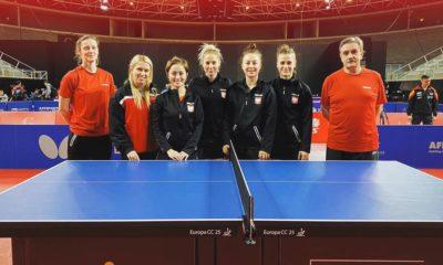 Polskie tenisistki stołowe Natalia Bajor, Natalia Partyka, Li Qian
